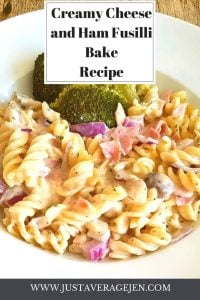 Creamy Cheese and Ham Fusilli Bake