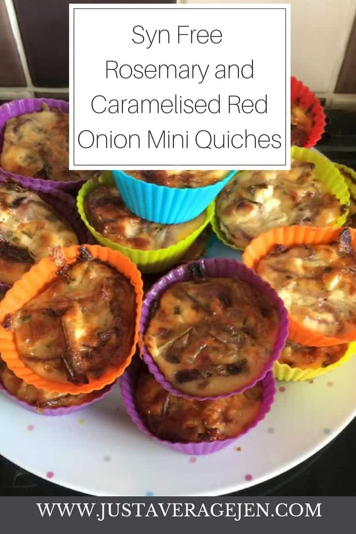 Rosemary and Caramelised Red Onion Mini Crustless Quiches